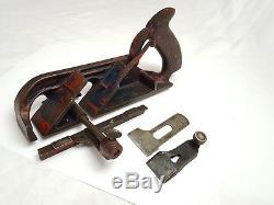 Rare Vintage Marples Rebate Plane Woodworking Rabbet Tool Made In England
