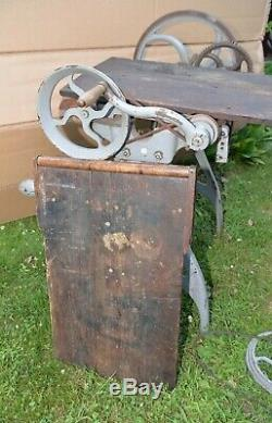 Rare antique Barnes hand crank table saw 1877 pat. Collectible woodworking tool
