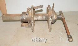 Rare antique Charles Parker pattern maker vise collectible woodworking tool