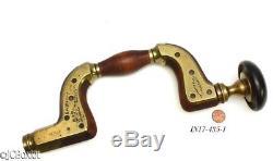 Rare beechwood R MARPLES ULTIMATUM BRACE brass drill woodworking tool jcboxlot