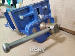 Record 52 ED Woodworking Vise under Work Bench