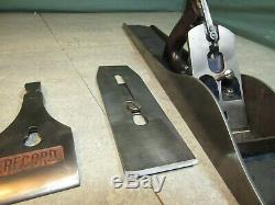 Record No 8 wood plane. War Finish. Made in England. Woodworking tools