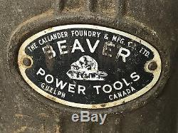 Rockwell Beaver Power Tools Model 3400 Wood Working Lathe 36 Gap Bed