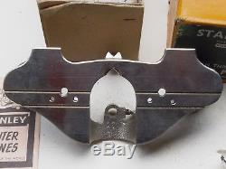 STANLEY No 71 ROUTER WOODWORK PLANE 3 CUTTERS GUIDE Boxed Very Nice Hardly Used