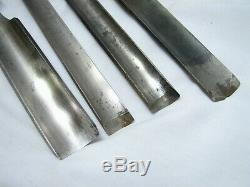 Set 7 Buck Brothers Crank Neck Wood Carving Gouge Chisels Woodworking Tools