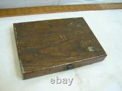 Set Buck Brothers Carving Chisel set Tool Crank Neck Gouge Bevel Woodworking Box