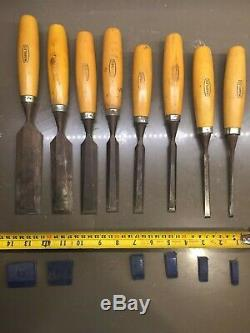 Set Of 8 Marples Wood Chisels Woodworking Tools