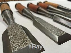 Set of 5Japanese Timber ChiselsNaka Tataki NomiWoodworking ToolMortising