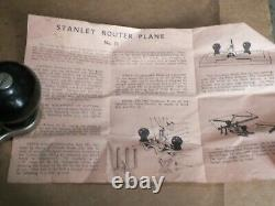 Stanley 71 Router Plane Complete With Three Cutters Wood Working