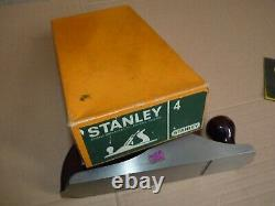 Stanley No 4 Plane Wooden Handles Boxed Wood Working Hardly Used