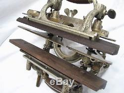 Stanley Sweetheart 55 Combination Woodworking Plane Wood Tool +Blades/Cutters