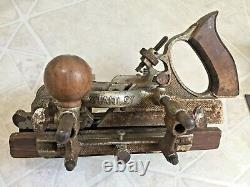 Two ANTIQUE STANLEY No. 45 COMBINATION WOODWORKING PLOW PLANE