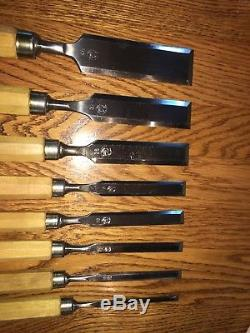 Ulmia Hirsch FWB Woodworking Chisels Set Of 8 Made in W. Germany