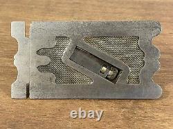 Ultra Rare Antique Edward Preston Adjustable Side Rebate Plane Woodwork Tool