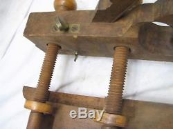 Union Factory H. Chapin Wooden Screw Arm Plow Plane Wood Working Tool