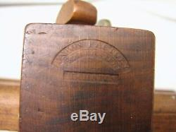 Union Factory H. Chapin Wooden Wedge Arm Plow Plane Wood Working Tool