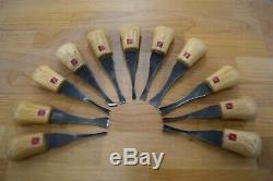Used flexcut wood carving tools, palm chisels, 11 piece set flexcut chisels