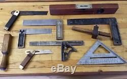VINTAGE Woodworking Tools STANLEY SWEETHEART Level Gauge Bevel Square Mallet