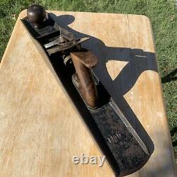VTG Bailey Stanley Wood Handle Plane #6 Corrugated Carpenters 18 Woodwork Tool