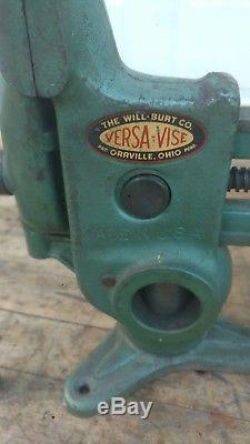 Versa-Vise Will Burt Co. 3 5/8 Gunsmith Wood Working Blacksmith Farrier