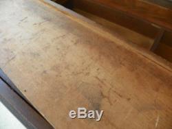 Victorian Vintage Wooden Tool Box Chest 37 x 21 Carpenter Woodworker. 1800s