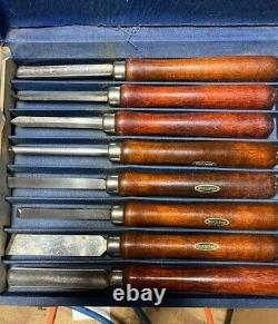 Vintage 17 Craftsman 8pc Wood Turning Lathe Chisel Set Woodworking Original Box