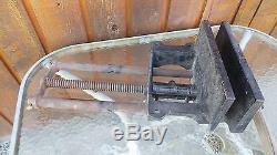 Vintage 1913 Richards WILCOX 10 Woodworking Table Bench Vise Cast Iron Clamp
