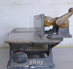 Vintage 4 J. D Wallace Workace Jointer Planer Woodworking Rare Antique Bench top
