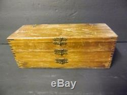 Vintage Antique Woodworking Drill Auger Bits (13) In Wooden Box