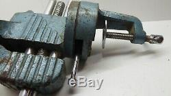 Vintage Bench Vice Swivel Carpenters Woodwork Hobby Clamp P&b Tools