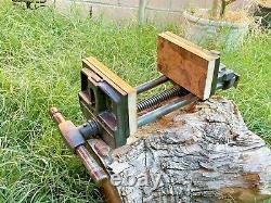 Vintage Brodhead Garrett B/G 500-V Woodworking Vise 7' Jaw Cast Iron Vice 30 Lbs