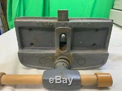 Vintage COLUMBIAN 10'' Woodworking Vise Quick Release Under Bench Mount USA MADE