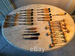 Vintage Collectible Wood Carving Chisel Dixon Miller Falls Set Tools