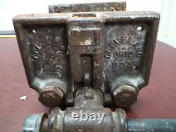 Vintage Columbian Under Bench Vise 1-RD Heavy Duty Woodworking