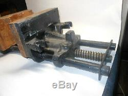 Vintage Columbian Under Bench Vise 7-RD Heavy Duty Woodworking