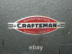 Vintage Craftsman 6518 Metal Tool Storage Wall Cabinet Woodworking Box 1950's