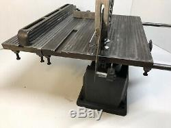 Vintage Craftsman Companion 6 Bench Top Table Saw Woodworking Tool Cast Iron