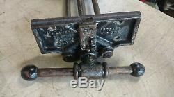Vintage Desmond MFG W-10 Wood Vise 10 Under Bench Quick Action Woodworking USA
