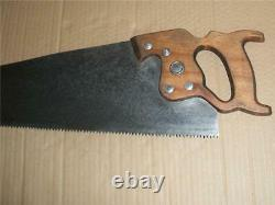 Vintage Disston Hand Rip Saw Canada 26 Blade 6 TPI Woodworking Tool Sharpened