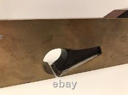 Vintage Heavy Gunmetal & Rosewood 1 Shoulder Plane Woodwork Tool
