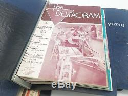 Vintage Lot of Deltagram Delta Milwaukee WW2 War Bond Woodworking Tools 1940's