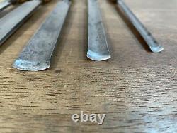 Vintage Marples Graduated Set of In-Cannell Paring Gouges Woodwork Chisel Tools