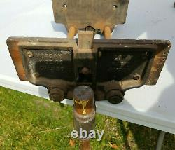 Vintage Morgan 200a 10 Cast Iron Under Mount Quick Release Woodworking Vise