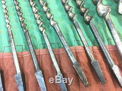 Vintage Roll Auger Drill Bit Ridgway 240 Jennings Patern Woodworking Tools Brace