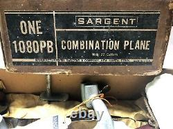 Vintage Sargent Combination Plane No 1080PB Collectable Woodworking Plane Mint