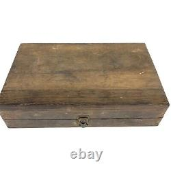 Vintage Set Irwin Drill Bits Tool Wood Auger withBox Carpenter's Woodworking 10404