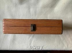 Vintage Set Irwin Drill Brace Bits Tool Wood Auger withBox Carpenter's Woodworking