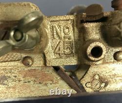 Vintage Stanley 45 Combination Plane Woodworking Carpentry Tool