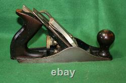 Vintage Stanley Bailey No 3 Type 17 Ca 1942-45 Smooth Woodworking Plane Inv#HC30