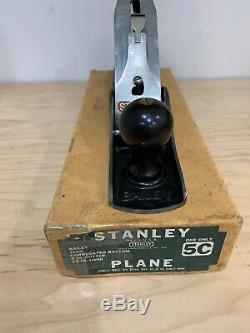 Vintage Stanley Bailey No. 5 C Corrugated Bottom Woodworking Jack Plane & Box